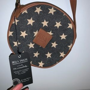 Bella Taylor Circle Crossbody In Patriotic Stars
